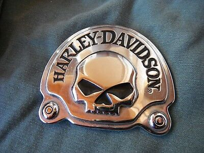 3D Willie G Skull Metal Chrome Emblem / Medallion For Harley Davidson motorcycle