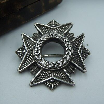 """An Antique Mid C19th Century Victorian Era French """"Medal Form"""" Brooch."""