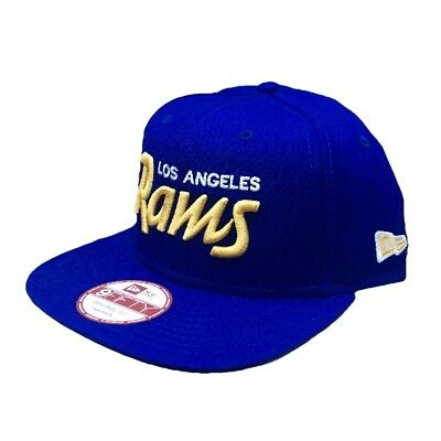 12dd18ba286 NFL L.A. RAMS New Era Historic Script Helmet 9FIFTY Snapback Hat ...