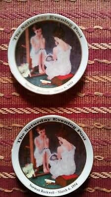 3 1/2 inch Collector Plates of Norman Rockwell Sat. Evening Post  Picture--