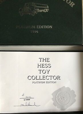 Rare 1996 Hess Toy Truck Collector Platinum Edition Book Michael Harwood #1190