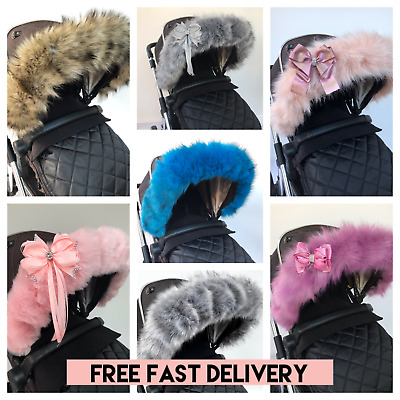 Fur for pram hood trim, My Babiie, bugaboo, silvercross  FAST DELIVERY