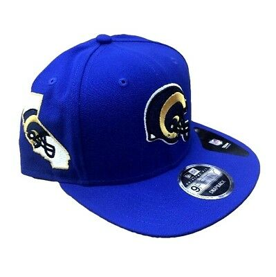 33ca7fe7642 NFL L.A. Rams New Era Retro State Clip Helmet 9FIFTY Snapback Hat - Royal