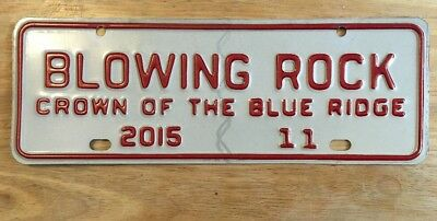 2015 Blowing Rock North Carolina City License Plate Topper Issue #11, NC