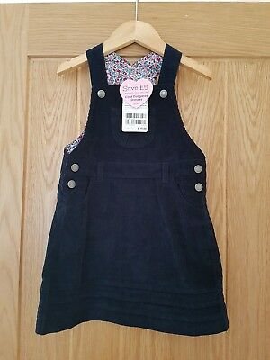BNWT Gorgeous Jojo Maman Bebe Girls Cord Dungaree Dress (Age 3 to 4)