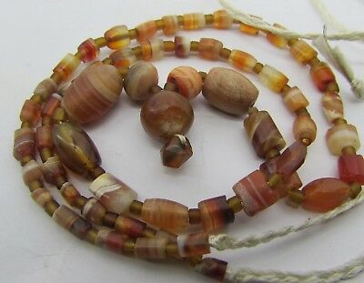 Ancient 56 tiny Carnelian agate rare beads from   Afghanistan.