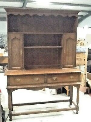 Early 20th Century, Quality, Solid Oak Welsh Dresser.