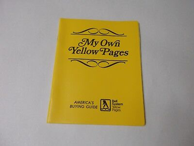 "Vintage Bell System Yellow Pages ""My Own Yellow Pages"" Address Book"