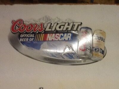 "Coors Light Official Nascar Metal Beer Sign 34"" x 16.5"""