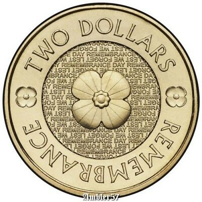 *2018  Australian Remembrance  $2  coin UNC*