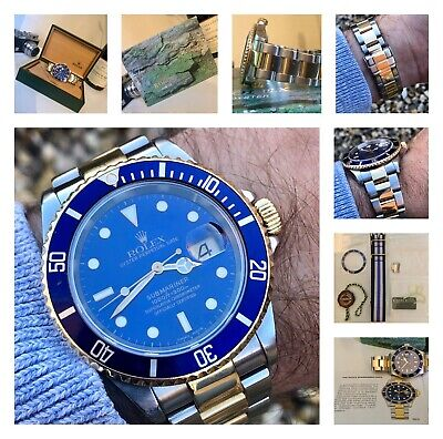 Rolex Submariner 16613 Blue Dial Bi Metal 2004/05 Cal 3135 - Serviced Nov 2018