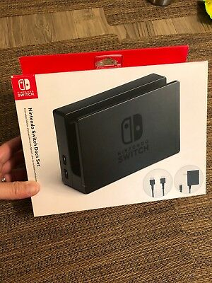 Official OEM Nintendo Switch TV Dock Station AC Power Supply Cable In Box