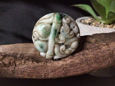 Chinese Exquisite Hand-Carved Mouse Jade Jadeite Carving Quality Pendant Amulet