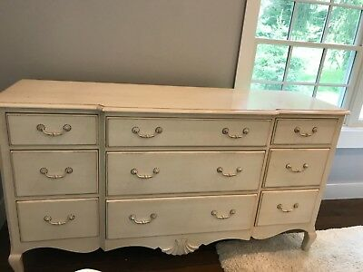 Ethan Allen Antique White Bedroom Set Full