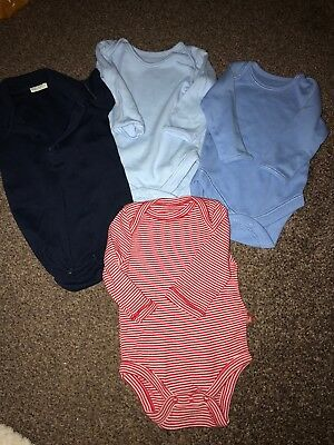 Pack Of 5 Baby Boys Vests 0-3 Months Washed But Never Been Worn
