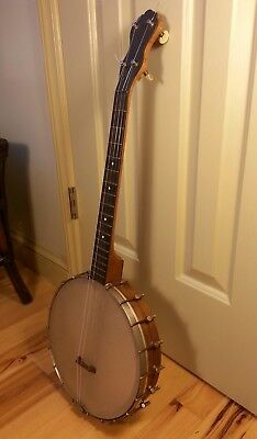 Vintage Antique Old Irish Tenor 4 String Openback Banjo 1930s - Ready To Play