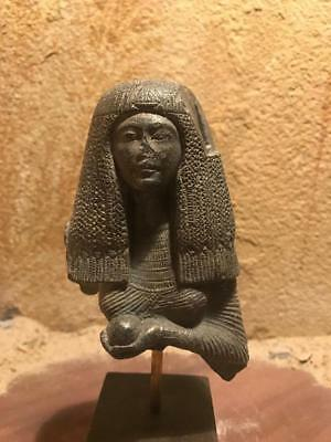Ancient Egyptian statue - museum replica - Post Amarna Lady with Mandrake fruit
