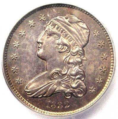 1832 Capped Bust Quarter 25C Coin - Certified ICG MS63 (BU UNC) - $4,200 Value!