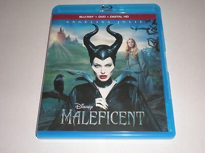 Maleficent│Blu-Ray/DVD Combo│No Digital Copy│No Slipcover│Like New