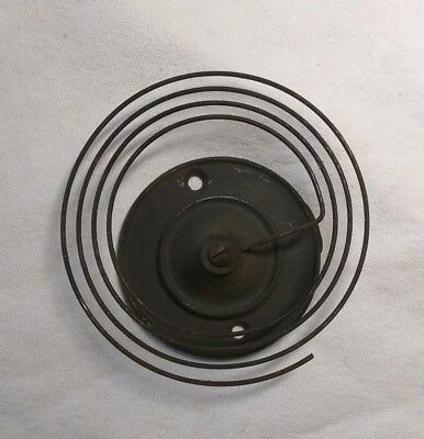 "Antique Clock Coil Gong Bell Wire Chime & Block - Spring 3-3/4"" Diameter - Parts"