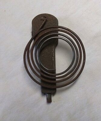 "Antique Clock Coil Gong Bell Wire Chime & Bolt - Spring 2-1/2"" Diameter - Parts"