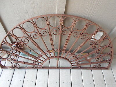 Antique Garden Gate Topper Rusty Ornate Art
