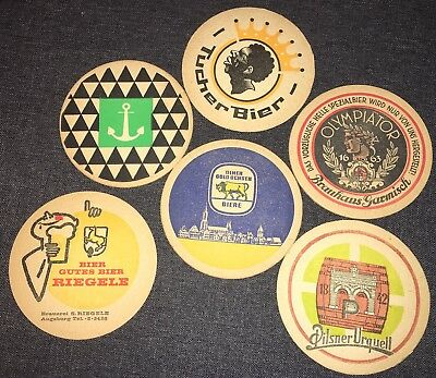 Lot Old vintage beer coasters European Age Unknown Superior Condition