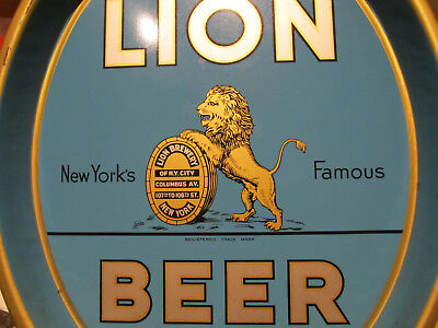 Lion Beer Tray NY, NY Brewed by Lion Brewery in Manhattan                  Sweet