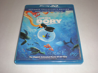 Finding Dory│Blu-Ray/DVD/Bonus Combo│No 3D│No Digital Copy│No Slipcover│Like New