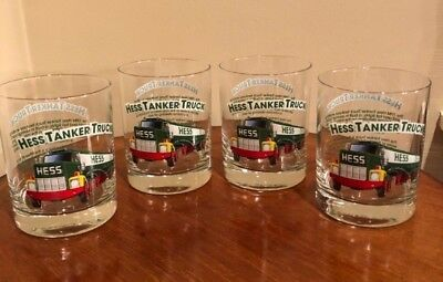 Hess Toy Truck 1996 Classic Truck Series Collectible Glasses Lmt Ed. (Set of 4)