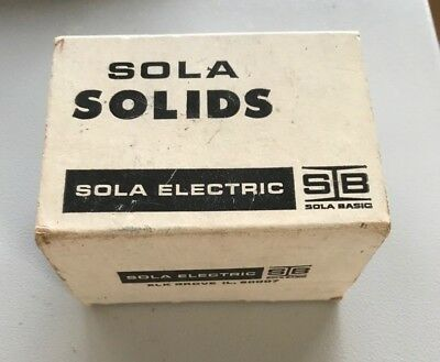 SOLA SOLIDS 84-12-02140 -- POWER SUPPLY - 115V In 24VAC Out 400MA New Old Stock