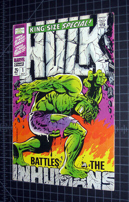 Incredible Hulk King Size #1, Steranko cover, Inhumans
