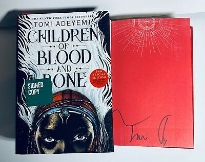 Tomi Adeyemi Signed Children Of Blood And Bone Hardcover Book Coa Auto 1St