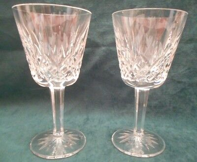 """Waterford Lismore Claret Wine Glasses - Set of 2 -  5 7/8"""" Tall"""