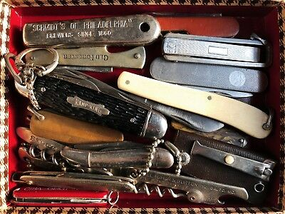> 10 Vintage Pocket Knives / Bone Handle / Estate Sale Discovery!