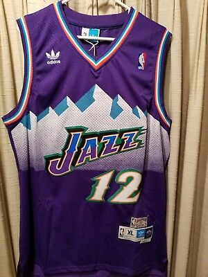 7eb5c4ea4bc ... wholesale nwot john stockton 12 nba utah jazz swingman throwback jersey  purple xl ba6d9 27398