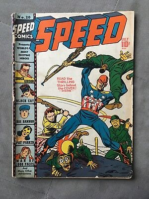 Speed Comics 20 July 1942 Harvey Publish Simon/Kirby Art  *Fair - Good Condition