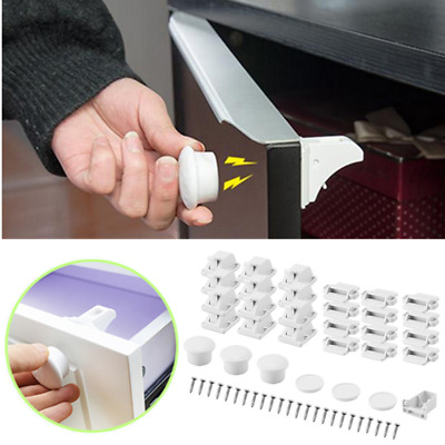 Magnetic Child Baby Protection Cabinet Drawer Locker Cupboard Childproof Lock