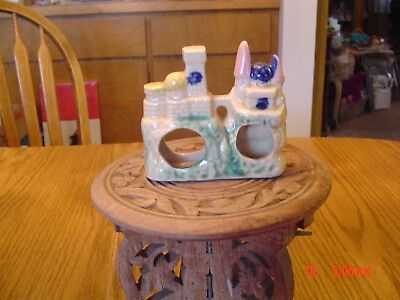 Vintage Japan Ceramic Castle Fish Tank Aquarium Decoration