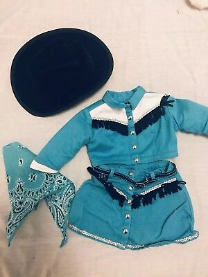 American Girl Doll Cowgirl Outfit Clothes Cowboy Boots Authentic Pleasant Co