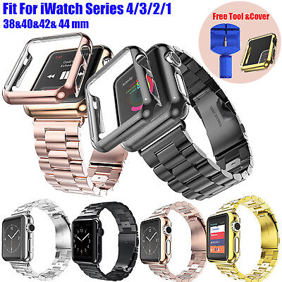 For Apple Watch Series 4 3 2 1 iWatch Band Stainless Steel Strap 38 40 42 44mm