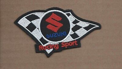 New 2 1/2 X 4 3/8 Inch Suzuki Racing Sport Iron On Patch Free Shipping