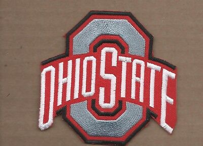 New 3 1/2 X 3 5/8 Inch Ohio State Buckeyes Iron On Patch Free Shipping