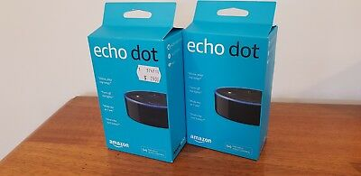 ## 2 x NEW ## Amazon Echo Dot 2 Smart Assistant Wireless Speaker Alexa (2nd Gen)