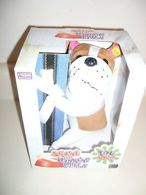 GEMMY Squirt the Humping Bulldog NAUGHTY Dog Humps Legs, Arm. RETIRED, DISCONTIN