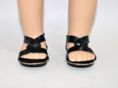 Our Generation American Girl Doll 18 Dolls Clothes Shoes Black Slip on Sandals