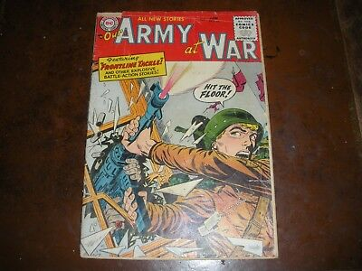 Our Army at War June 1955 3.5 OW pgs. Jerry Grandenetti Cover Art