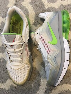 best website f08ad f5bd5 Nike Air Max TR 180 Cross Trainer Mebs Running Shoes US Size 9 White Green  Grey