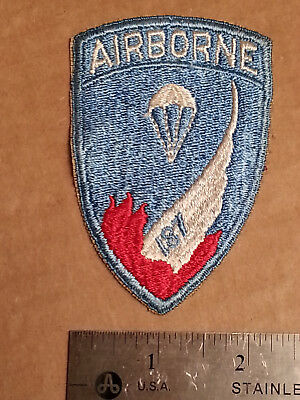 WWII Airborne 187th RCT Patch CUT-EDGE SNOWY BACKED NO-GLOW