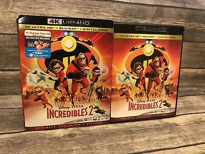 Disney Pixar Incredibles 2 4K Ultra HD & Blu-ray *No Digital w/ Slipcover